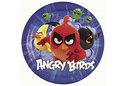 Angry Birds - Angry Birds Movie 8kpl pieni pahvilautanen 18cm