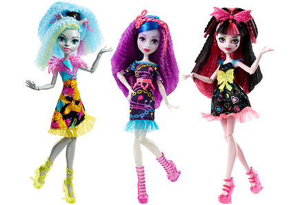 Monster High - Monster High electrified hair-raising ghouls