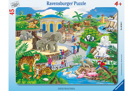 Ravensburger - Ravensburger Visit to the Zoo palapeli, 45 palaa