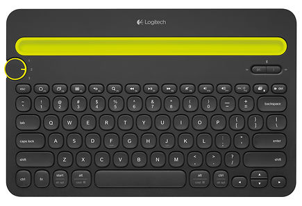 Logitech - Logitech® Bluetooth® Multi-Device Keyboard K480 Musta