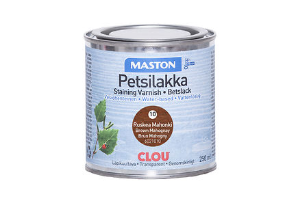 Woodmix - Maston petsilakka 250ml ruskea mahonki, 10
