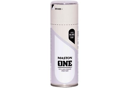 Maston - Maston spraymaali 400ml Kermanvalkea, RAL 9001