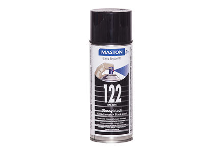 Maston - Maston spraymaali 400ml musta 122, RAL 9005