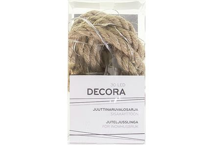 Decora - Decora juuttinaruvalosarja 30 LED