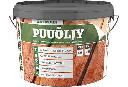 Woodcare - WOODCARE.GUIDE puuöljy 2,7l harmaa