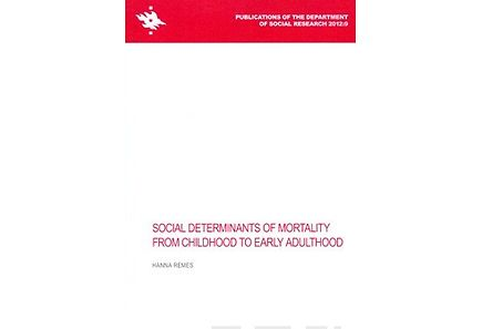 Kirjat - Social Determinants of Mortality from Childhood to Early Adulthood